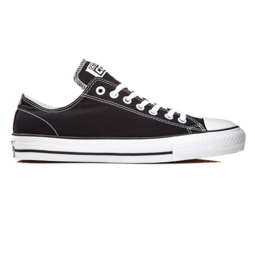 Converse CTAS Pro Ox Black Black White Mens Canvas Skateboard Shoes [Size: 8]