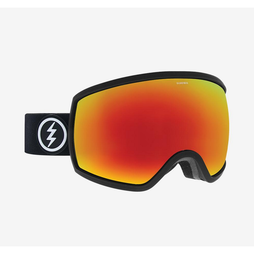 Electric EGG Matte Black Mens 2019 Snowboard Goggles Brose Red Chrome Lens