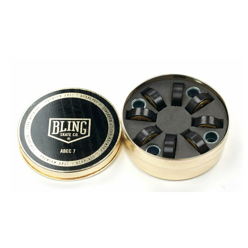 Bling Gold Abec 7 Skateboard Bearings