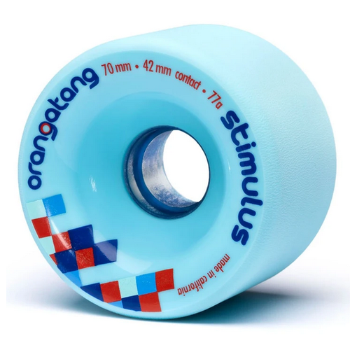Orangatang Stimulus Blue 70mm 77a Skateboard Wheels