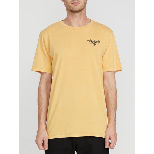 Volcom Flying Stone Honey Gold Mens Short Sleeve Tee [Size: Large]