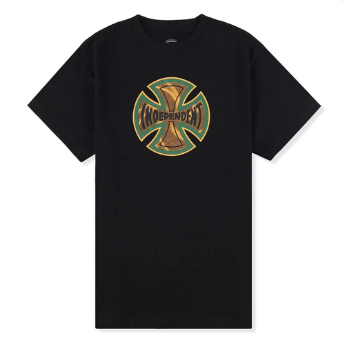 Independent Coil Black Youth Short Sleeve Tee [Size: 8]