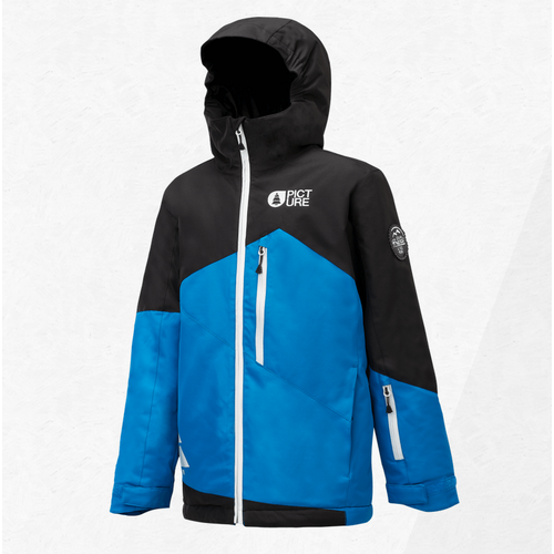 Picture Milo Blue Kids 10K 2019 Snowboard Jacket [Size: 8]